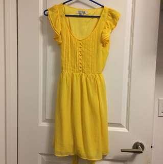 Yellow forever 21 summer dress