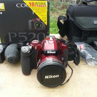 "Nikon coolpix p520 no scratches""need to buy new battery"" issue cant turn on need to repair"