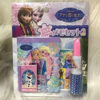 日本Frozen唇膏形筆/便條紙/貼紙