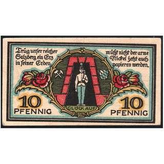 【墨藝陶喜】1920年一戰德國Berchtesgaden緊急貨幣 (紀念幣紀念章錢幣銀幣銅幣紙幣紙鈔元寶龍銀古錢古幣