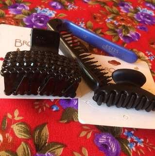 Brush and clam set