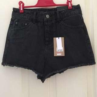 Glassons black denim shorts 8