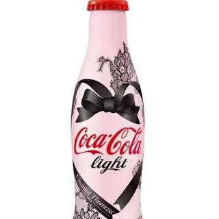 🚚 YUMO家 法國段帶鋁瓶粉紅紀念瓶 可口可樂