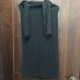 🚚 全新純黑色吊帶長裙(吊帶可拆)