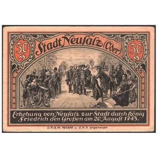 【墨藝陶喜】1918年一戰德國Neufalz緊急貨幣 (紀念幣紀念章錢幣銀幣銅幣紙幣紙鈔元寶龍銀古錢古幣低價外鈔超值硬幣