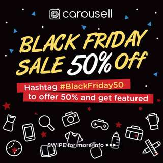 Black Friday 50% Sale