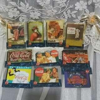 可口可樂廣告卡10張(膠片)