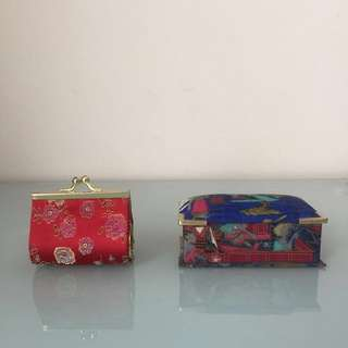 Cute vintage Chinese mini purse and accessory box.