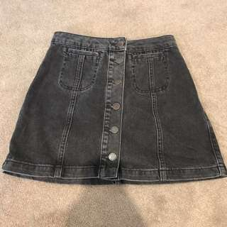 Top shop size 25 denim skirt black