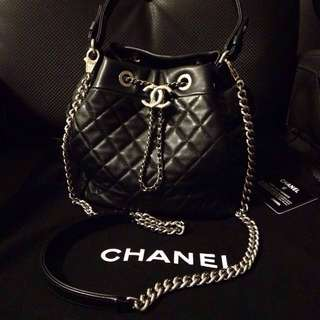 Chanel drawstring bucket