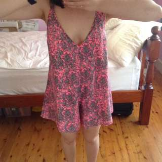 BNWT pink patterned play suit