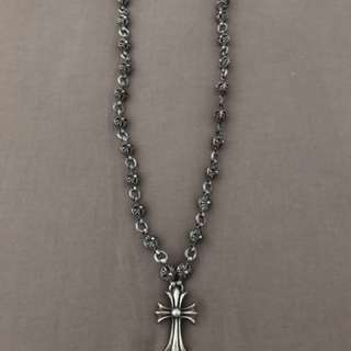 Authentic chrome hearts maltese cross necklace