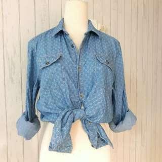 ROPE Denim Shirt Mens Ladies Women Brands Outlet