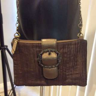 Vintage bronze crossbody bag