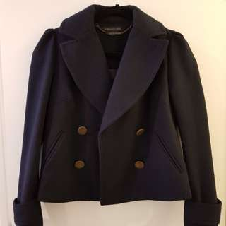Forever New navy blue short coat