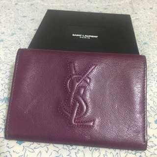 Ysl saint laurant card holder coin purse 銀包