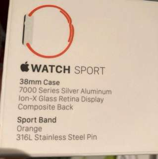 Apple watch 38mm silver aluminum
