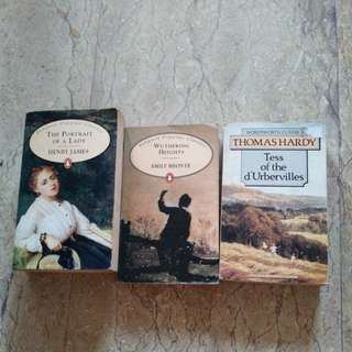 Literature Text - The Portrait of a Lady, Wuthering Heights, Tess of the d'Urbervilles
