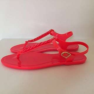COUNTRY ROAD PINK RED SANDALS JELLY CUTE SUMMER