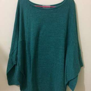 Green Batwing Top
