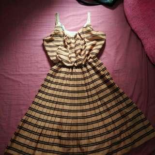 Orange stripe dress