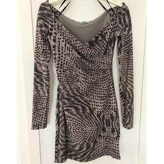 KOOKAI Long-sleeve mauve dress - Size 1