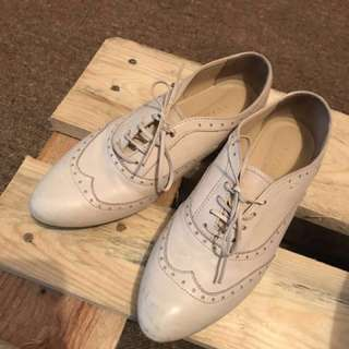 Nude Leather oxford shoes