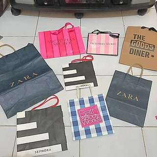 Paper BAG Zara, Sephora, Victoria Secret