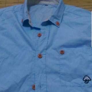 短袖襯衫 天藍色 九成新