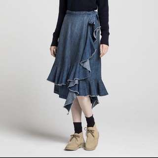 Uniqlo x JW Anderson wrap skirt denim