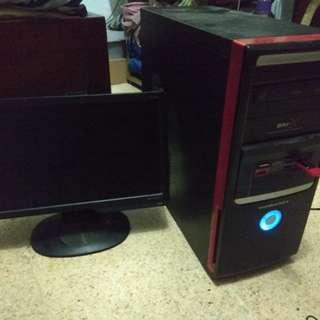 """Jual PC Core 2 duo dan Monitor Benq 16"""""""