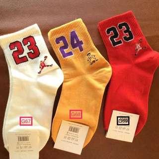 Jersey Number Mid Socks