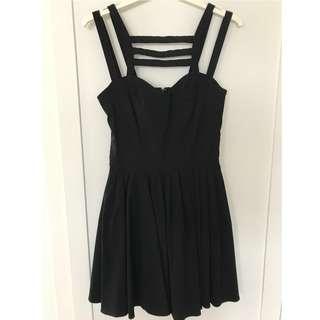ASOS black pleated dress - UK8