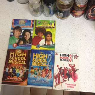 5 high school musical books