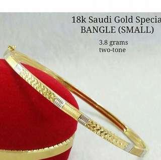 18k SAUDI GOLD BANGLE