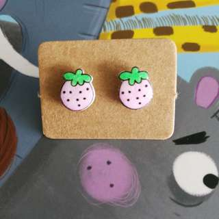 Yummy baby pink 🍓 strawberry earrings