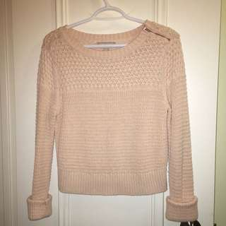 Salmon Pink Knit Sweater