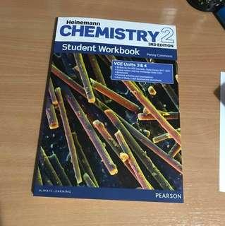 *NEW* Pearson VCE UNITS 3&4 Chemistry Heinemann 3rd Edition Workbook
