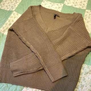 Brown knit jumper