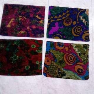 4 pcs new furry fabric machine sewn cloth