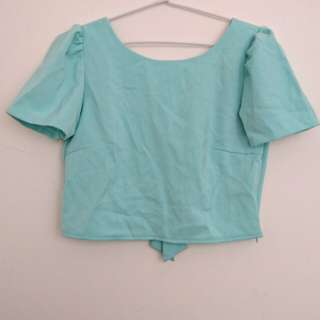 Turquoise Crop blouse