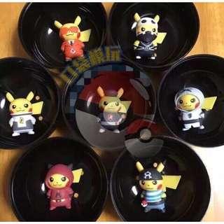 神奇寶貝 寶可夢 Pokemon Go 寵物小精靈 神奇寶貝  正版 PC口袋中心限定 反派 水艦隊 皮卡丘整套販售