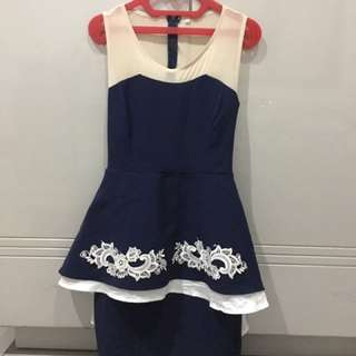 Navy classic dress