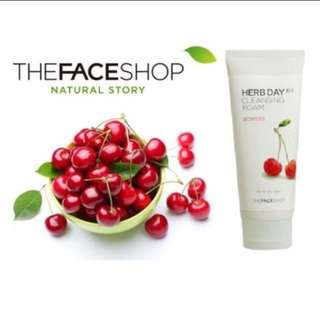 The face shop herb day acerola cleansing foam