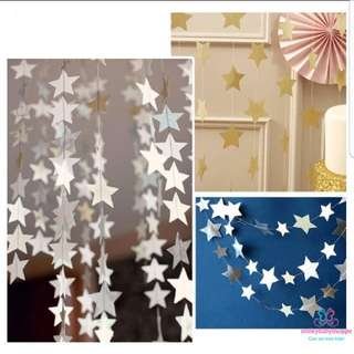 *IN STOCK!*Hanging Stars Decor Kids Xmas New Year Party
