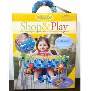 REPRICED! Infantino Shop & Play 2-in-1 shopping cart cover and playmat