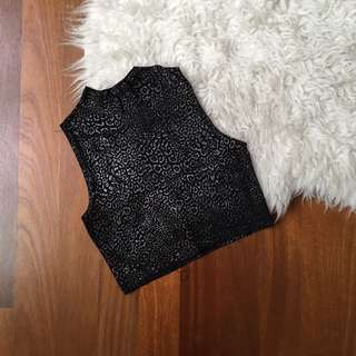 Spotted Crop Top