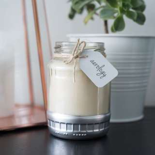 Scented Soy Candle in Upcycled Jar