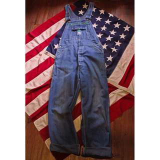 Vintage LIBERTY 早期美製古著 復古牛仔丹寧吊帶工作褲 Made in USA