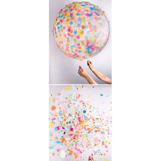 Jumbo Unicorn Confetti Party Balloon for photography session! (90cm)